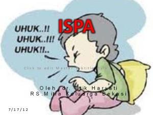 Sikap Dan Persepsi Pengobatan Rasional Penyakit ISPA  Penatalaksanaan Manajemen Terpadu Balita Sakit (MTBS) ispa